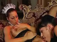 Mature mistress licks pussy of maid